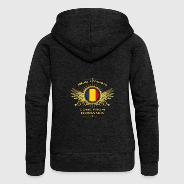 Legends born gift home in ROMANIA - Women's Premium Hooded Jacket