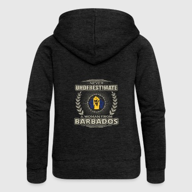 Never Underestimate Girl Woman BARBADOS png - Women's Premium Hooded Jacket