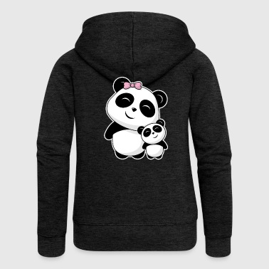 Panda siblings - Women's Premium Hooded Jacket