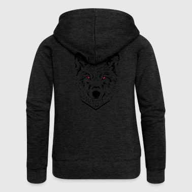 wolf - Women's Premium Hooded Jacket