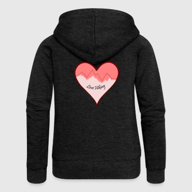 Hiking Love Hiking - Women's Premium Hooded Jacket