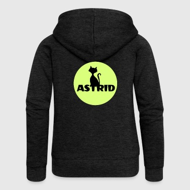 Astrid name cat full moon name day - Women's Premium Hooded Jacket