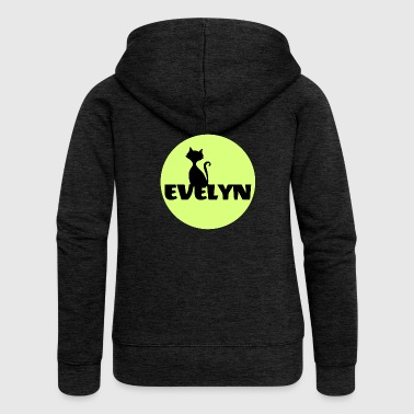 Evelyn Surname First name - Women's Premium Hooded Jacket