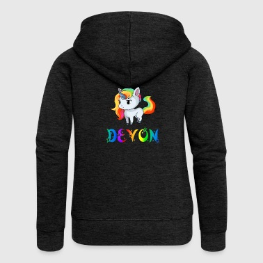 Unicorn Devon - Women's Premium Hooded Jacket