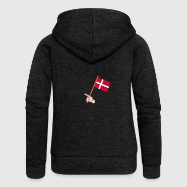 Danish flag - Women's Premium Hooded Jacket