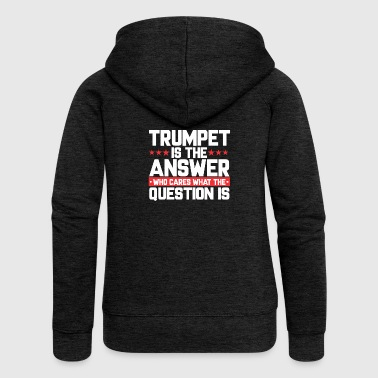 ORCHESTRA LEAF: TRUMPET IS THE ANSWER - Women's Premium Hooded Jacket