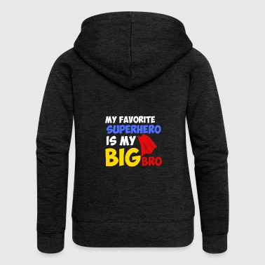 Siblings Brother superhero love siblings gift - Women's Premium Hooded Jacket