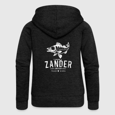 Ja Last Litter Zander Ja ger Vintage Fishing - Women's Premium Hooded Jacket
