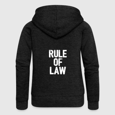 rule of law - law comes - Women's Premium Hooded Jacket