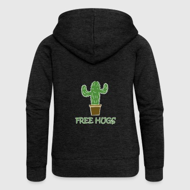 free hugs free hug cactus - Women's Premium Hooded Jacket