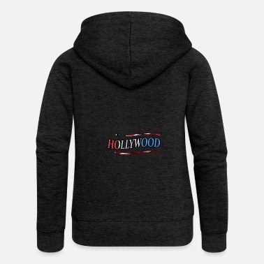 Hollywood Hollywood - Chaqueta con capucha premium mujer