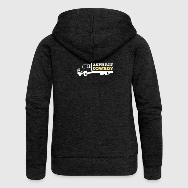 ASPHALT COWBOY TRUCK - Women's Premium Hooded Jacket