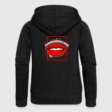 Tongue twister mouth tongue - Women's Premium Hooded Jacket