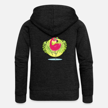 Cool flamingo - Women's Premium Hooded Jacket