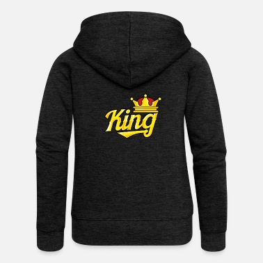 Couple King (DAD) - Funny Family Matching cadeau - Veste à capuche Premium Femme