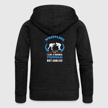 Fighter Wrestling Wrestling Wrestling Wrestling Mat Greco - Women's Premium Hooded Jacket