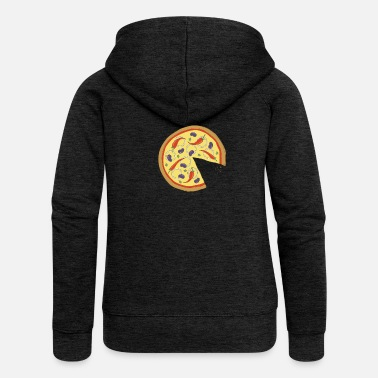 Officialbrands The Missing Pizza Hot Pepper - Matching Couple Love - Women's Premium Zip Hoodie