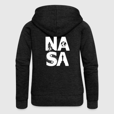 NASA - stile limitato - Felpa con zip premium da donna