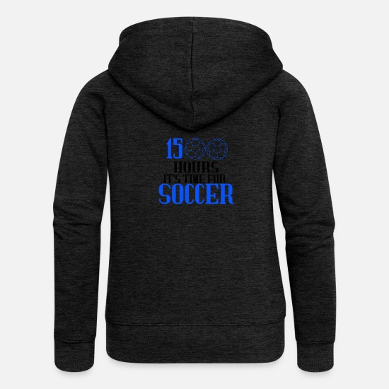 Équipe De Football Sweat-shirts - Fan de football - Veste à capuche premium Femme charbon