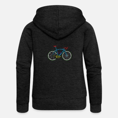 Glass Underwear Bicycle anatomy for bike and cycling lovers - Women's Premium Zip Hoodie