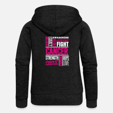 Breast Cancer Walk Breast cancer Cancer collage faith defeated strength - Women's Premium Hooded Jacket