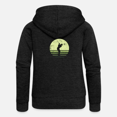 Bomb Retro green golf player - Women's Premium Zip Hoodie