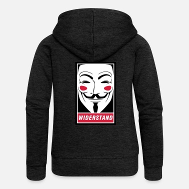 Guy Fawkes Guy Fawkes - resistance - Women's Premium Hooded Jacket