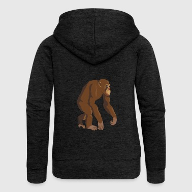 Chimpanzee! - Women's Premium Hooded Jacket