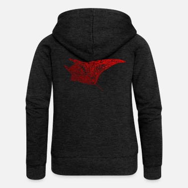 Dive Diver Manta Tattoo Dive Diving Diving - Women's Premium Zip Hoodie
