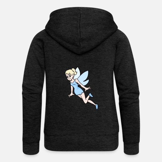 Fantasy Hoodies & Sweatshirts - Elf fairy elves fairies fairy tale fable mythical creature - Women's Premium Zip Hoodie charcoal grey