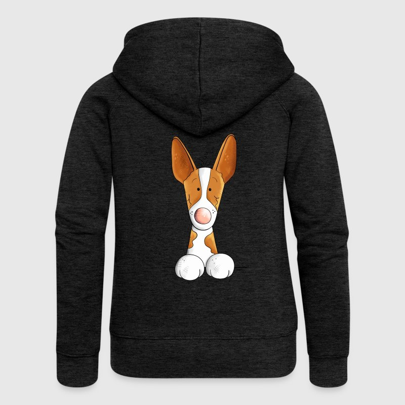 Funny Podenco Canario - Women's Premium Hooded Jacket