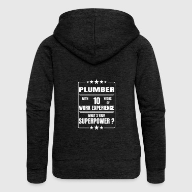 Plumber PLUMBER 10 YEARS OF WORK EXPERIENCE - Women's Premium Hooded Jacket
