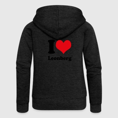 I love Leonberg - Women's Premium Hooded Jacket