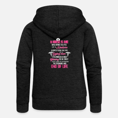 Nurse Funny Naughty Birthday Gift Man & Woman - Women's Premium Zip Hoodie