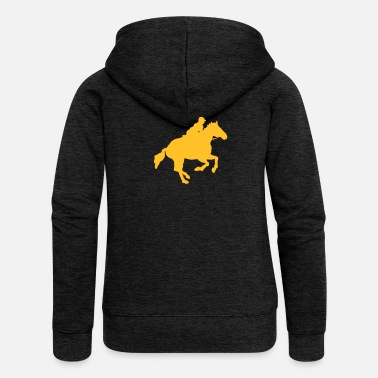 Racehorse Gallop - Women's Premium Hooded Jacket