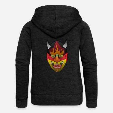 Asiatic Mask Asian Mask - Women's Premium Hooded Jacket