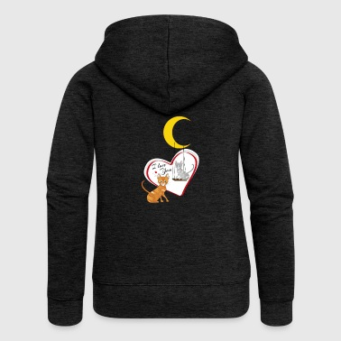 Cats on swing - Women's Premium Hooded Jacket