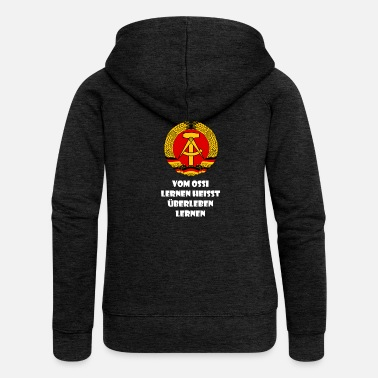 Ostalgie Ossi saying DDR Funny Ostalgie gift survival - Women's Premium Hooded Jacket