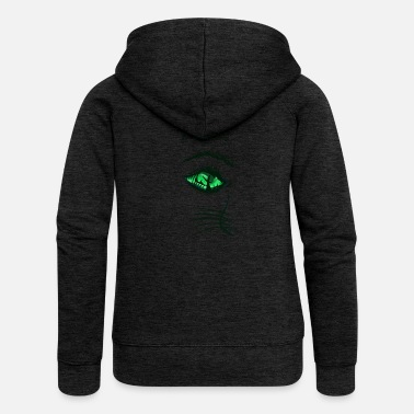 cat's-eye - Women's Premium Zip Hoodie
