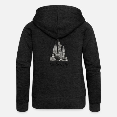 Nyc New York City NYC Manhattan America USA - Women's Premium Zip Hoodie