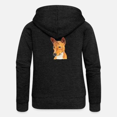 Basenji Basenji - Women's Premium Hooded Jacket