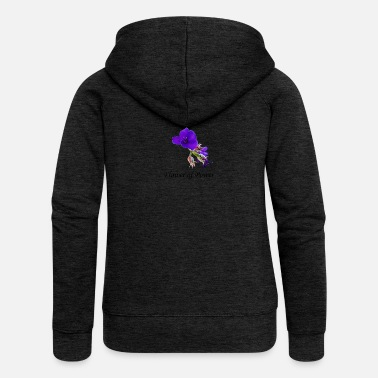 Flower Power Purple Flower Flower of Power - Women's Premium Hooded Jacket
