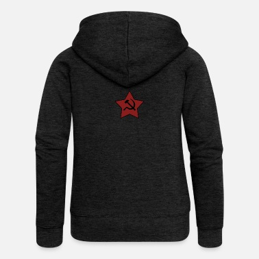 Sickle HAMMER AND SICKLE - Women's Premium Hooded Jacket