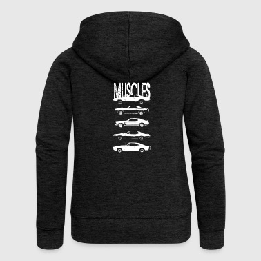 Muscle Muscles cars - Women's Premium Hooded Jacket