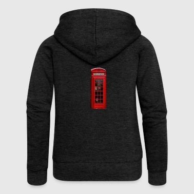 London telephone booth - Women's Premium Hooded Jacket