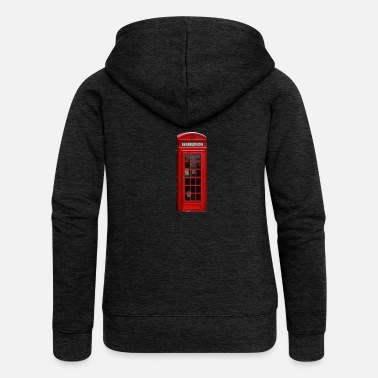 Booth London telephone booth - Women's Premium Hooded Jacket