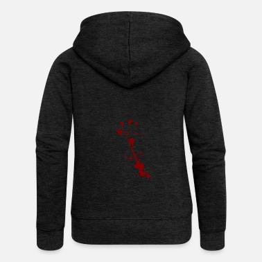 Blood Splatter Blood splash splatter halloween - Women's Premium Hooded Jacket
