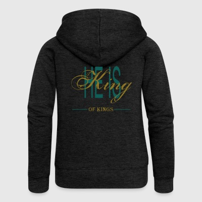 HE IS KING OF KINGS - Women's Premium Hooded Jacket