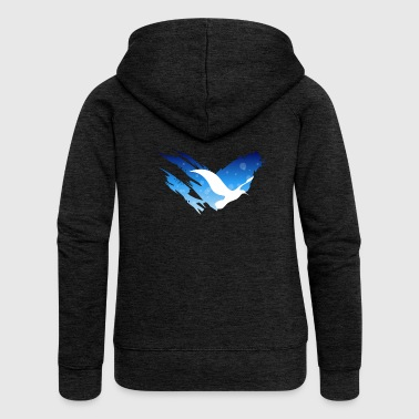 Space Atlas No Text Tee Blue - Women's Premium Hooded Jacket