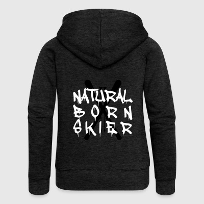 Natural Born Skis - Women's Premium Hooded Jacket